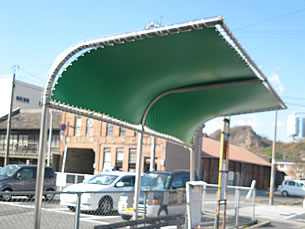 バス停テント